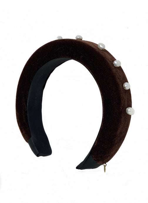 Diana headband chocolate