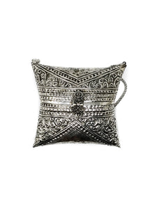 Cuckoo B Amelia Bag, made of Silver Plated Brass and with Velvet Lining. Product from India.