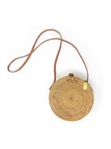 Cuckoo B Aurora Bag, made of rattan, ata grass and leather. Product from Bali, Indonesia