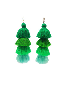 Gala Earrings Green