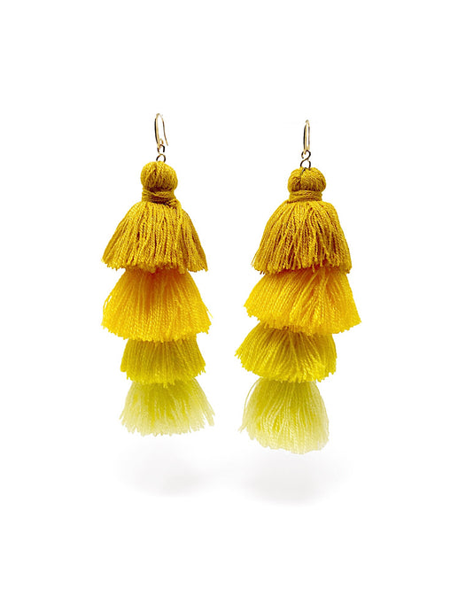 Gala Earrings Yellow
