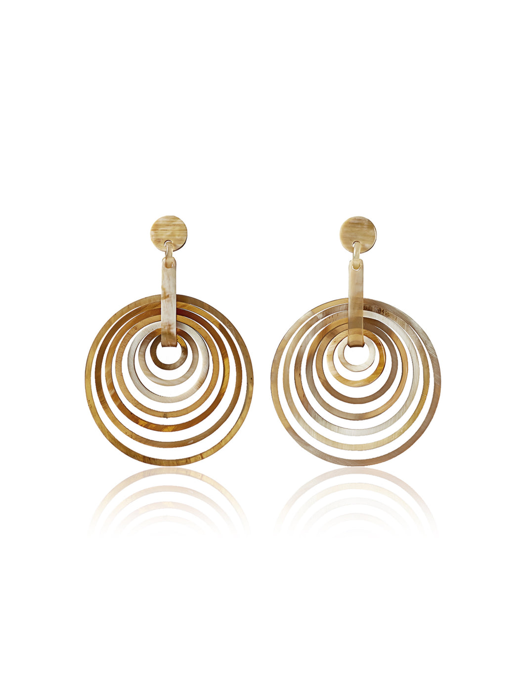 Iman earrings caramel