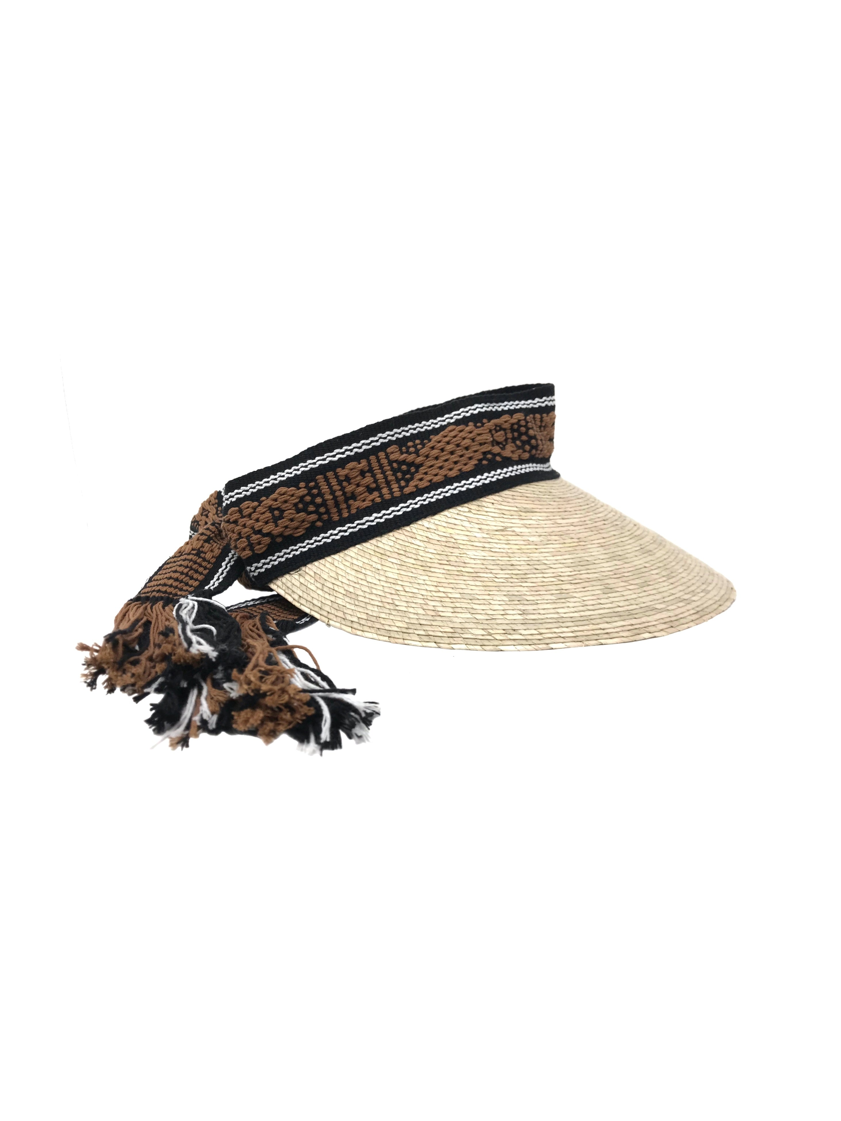 Ramona visor hat brown