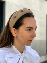 Audrey headband grey pearls