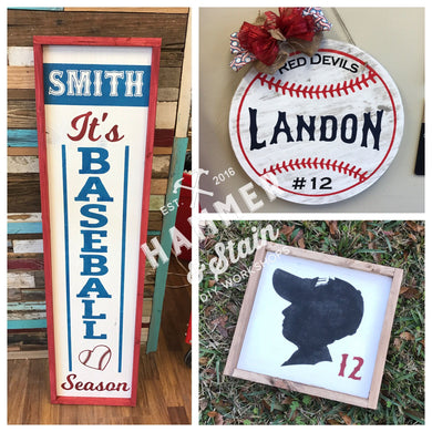 Softball/Baseball Themed Projects Gallery