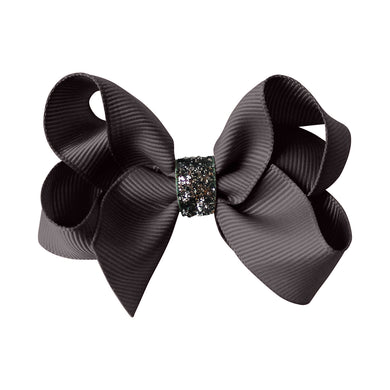 Medium Boutique Bow - metal grey
