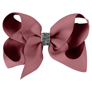 Large Boutique Bow - rosy mauve