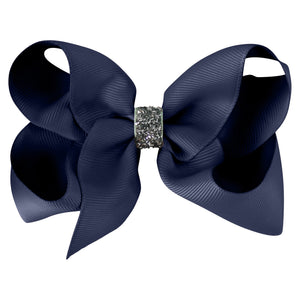 Large Boutique Bow - navy