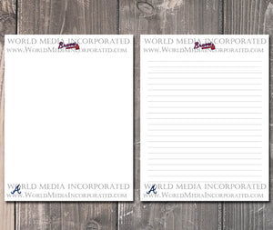 picture relating to Atlanta Braves Schedule Printable referred to as Atlanta Braves: MLB Printable Paper Creating Paper - Prompt Obtain (Instantaneous immediate shipping and delivery)