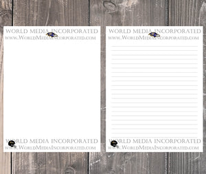 Baltimore Ravens: NFL Printable Paper & Writing Paper - Instant Download (Fast instant delivery)
