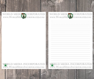Boston Celtics: NBA Printable Paper & Writing Paper - Instant Download (Fast instant delivery)