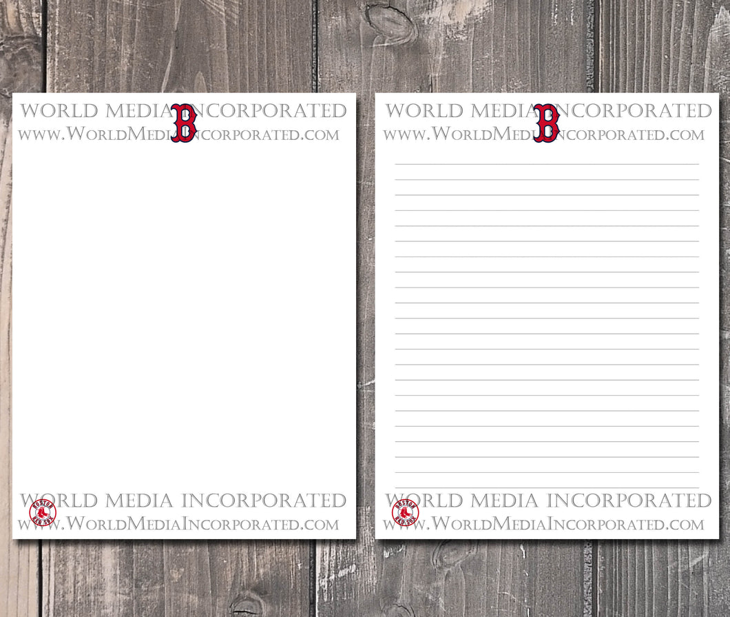 Boston Red Sox: MLB Printable Paper & Writing Paper - Instant Download (Fast instant delivery)