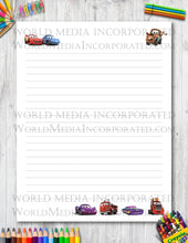 Cars - Printable Paper - Coloring, Diary, Art, Scrapbook