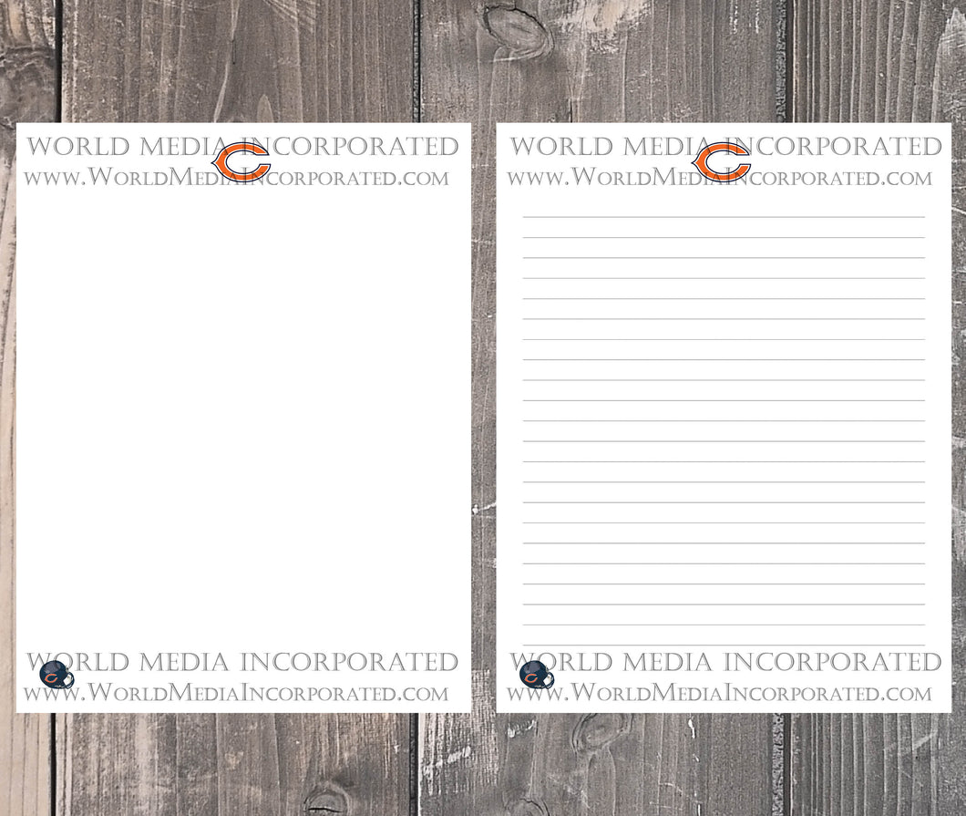 Chicago Bears: NFL Printable Paper & Writing Paper - Instant Download (Fast instant delivery)