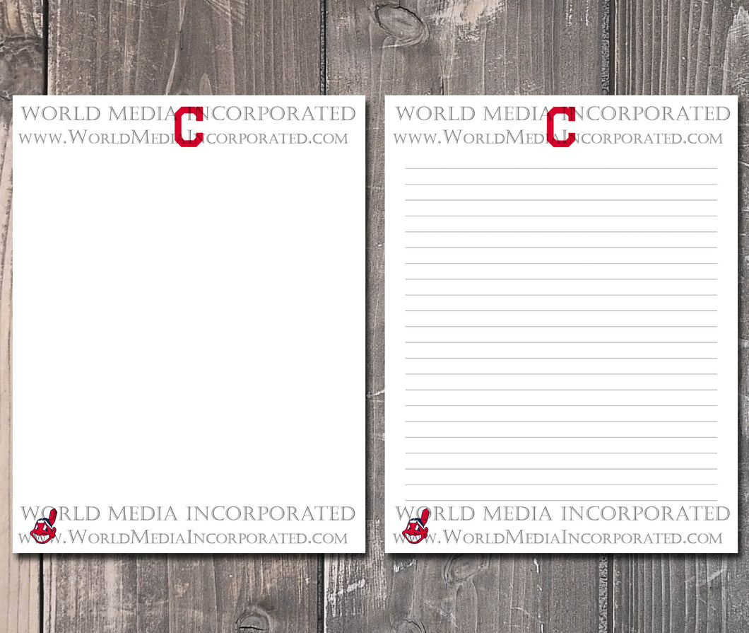 Cleveland Indians: MLB Printable Paper & Writing Paper - Instant Download (Fast instant delivery)