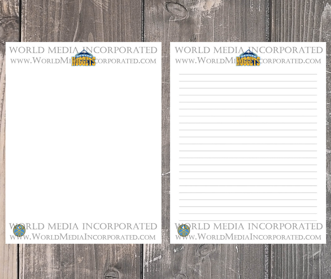 Denver Nuggets: NBA Printable Paper & Writing Paper - Instant Download (Fast instant delivery)