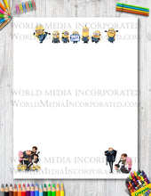 Despicable me - Printable Paper - Coloring, Diary, Art, Scrapbook