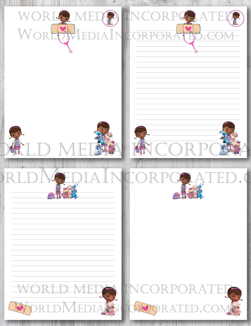 Doc Mcstuffins - Printable Paper - Coloring, Diary, Art, Scrapbook