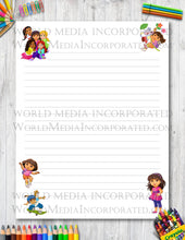 Dora The Explorer - Printable Paper - Coloring, Diary, Art, Scrapbook