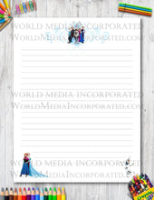 Frozen - Printable Paper - Coloring, Diary, Art, Scrapbook