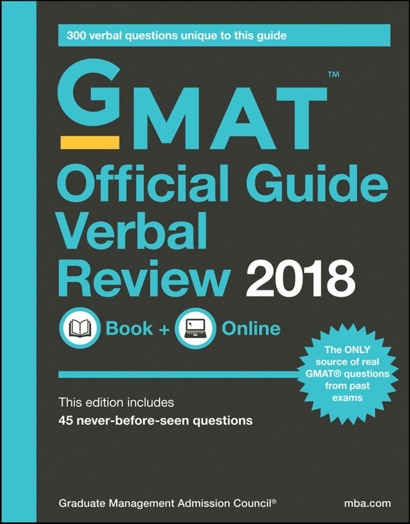 GMAT Official Guide Verbal Review 2018 - eBook, PDF (Fast instant delivery)