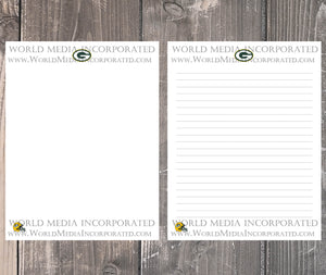 Green Bay Packers: NFL Printable Paper & Writing Paper - Instant Download (Fast instant delivery)
