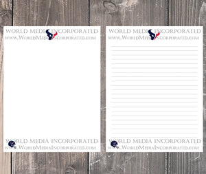 Houston Texans: NFL Printable Paper & Writing Paper - Instant Download (Fast instant delivery)