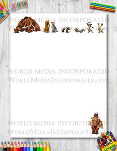 Ice Age - Printable Paper - Coloring, Diary, Art, Scrapbook