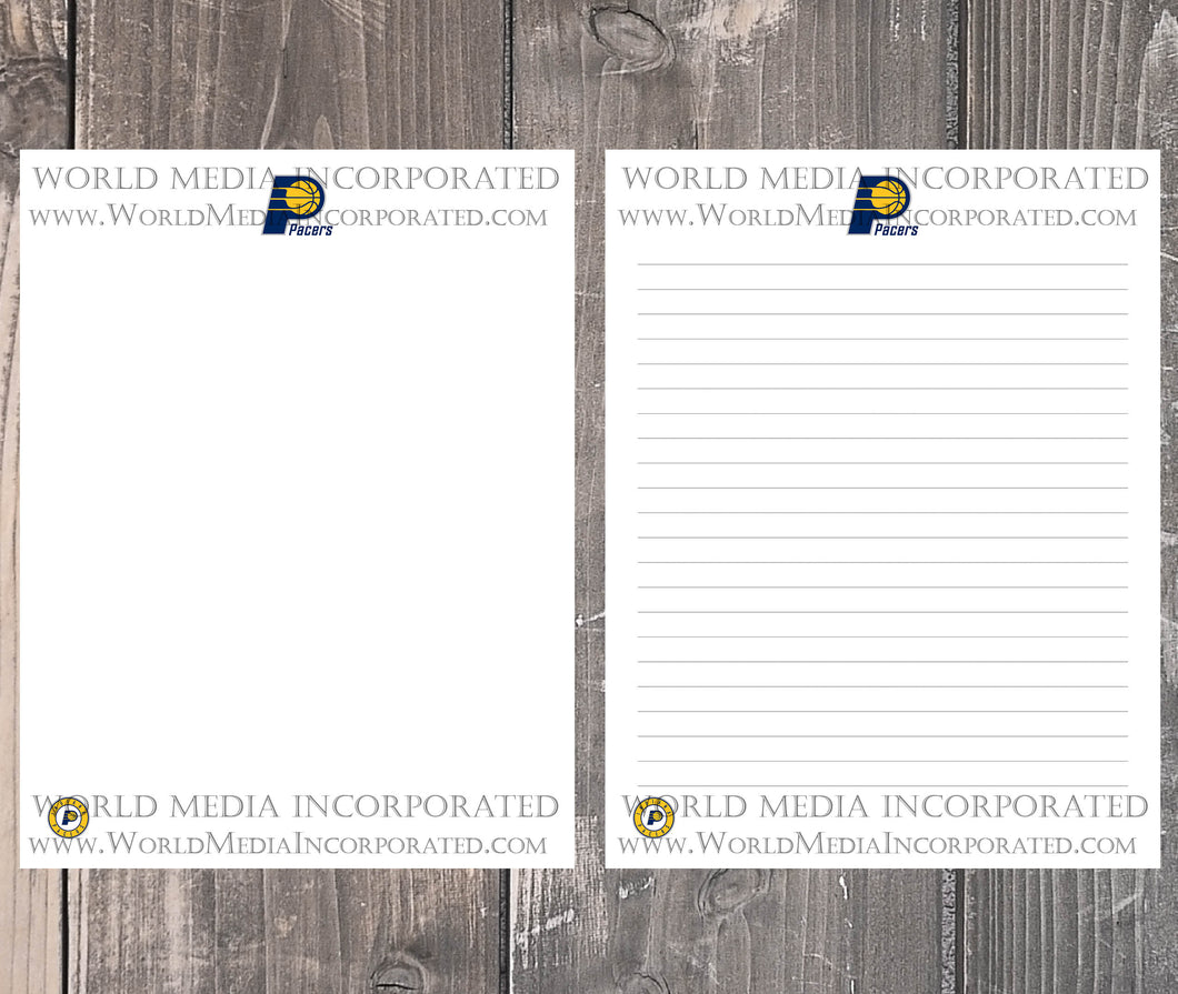 Indiana Pacers: NBA Printable Paper & Writing Paper - Instant Download (Fast instant delivery)