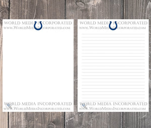 Indianapolis Colts: NFL Printable Paper & Writing Paper - Instant Download (Fast instant delivery)
