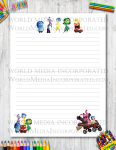 Inside Out - Printable Paper - Coloring, Diary, Art, Scrapbook