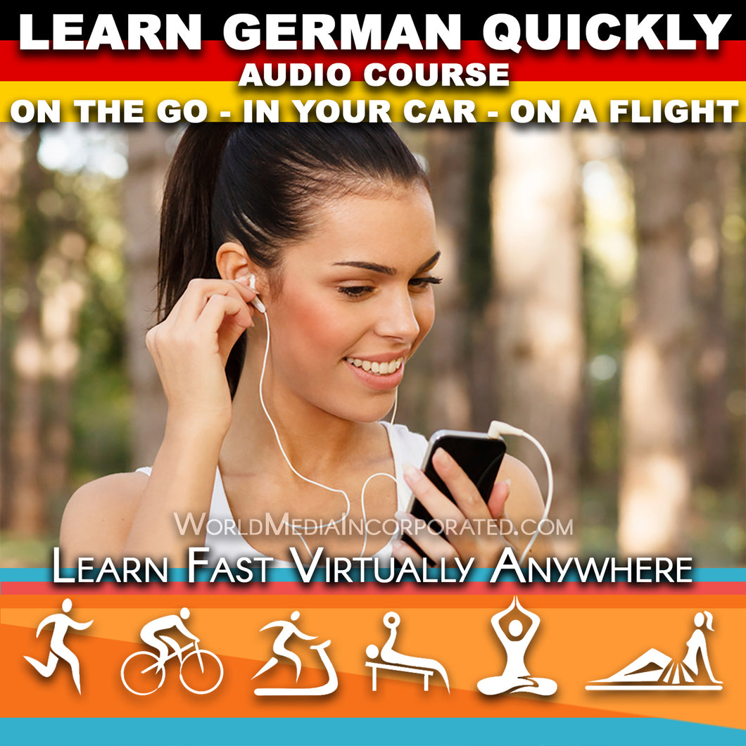 Learn German: Fastest way (1 hour course) - Audio Download (Fast instant delivery)