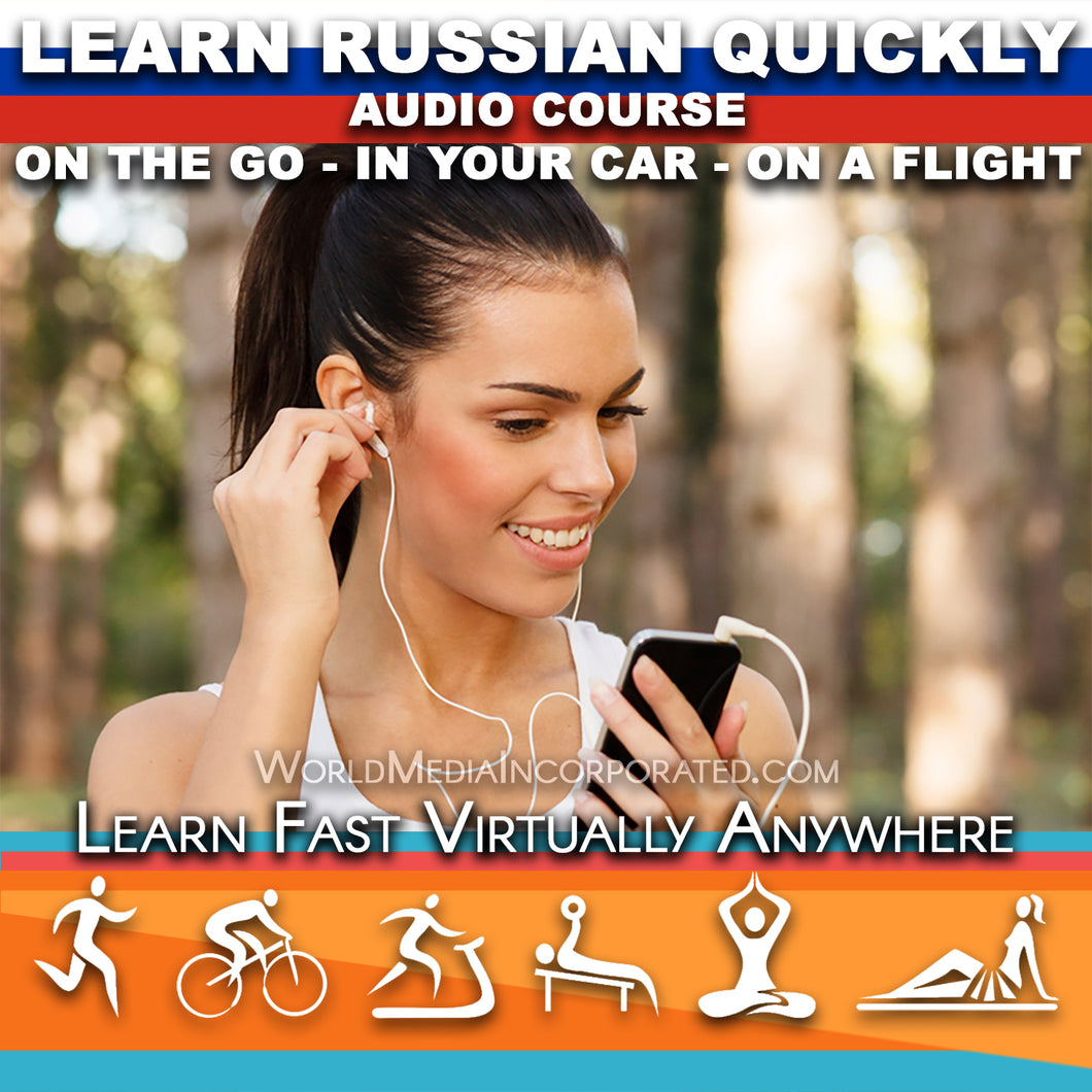 Learn Russian: Fastest way (1 hour course) - Audio Download (Fast instant delivery)