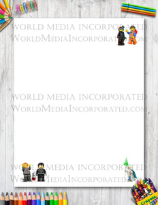 The Lego Movie - Printable Paper - Coloring, Diary, Art, Scrapbook