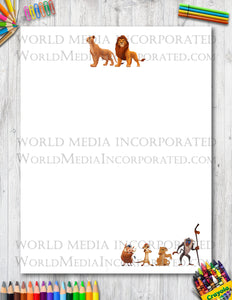 The Lion King - Printable Paper - Coloring, Diary, Art, Scrapbook