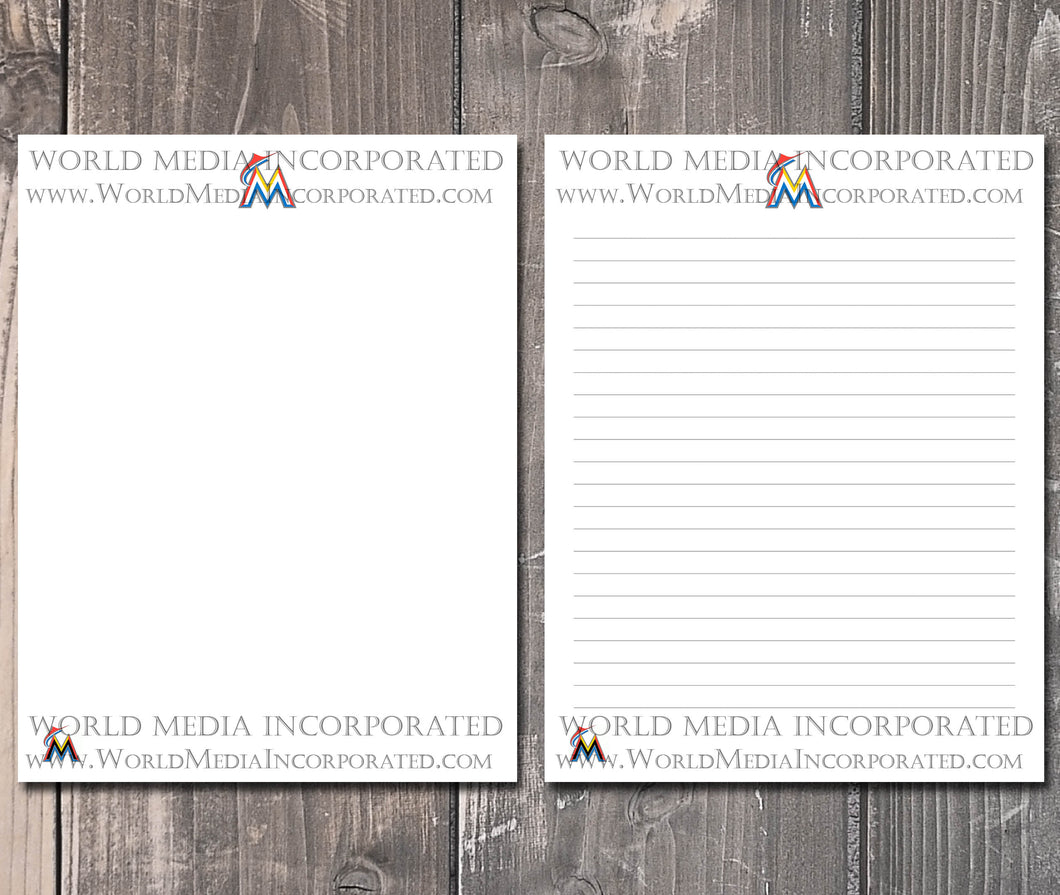 Miami Marlins: MLB Printable Paper & Writing Paper - Instant Download (Fast instant delivery)