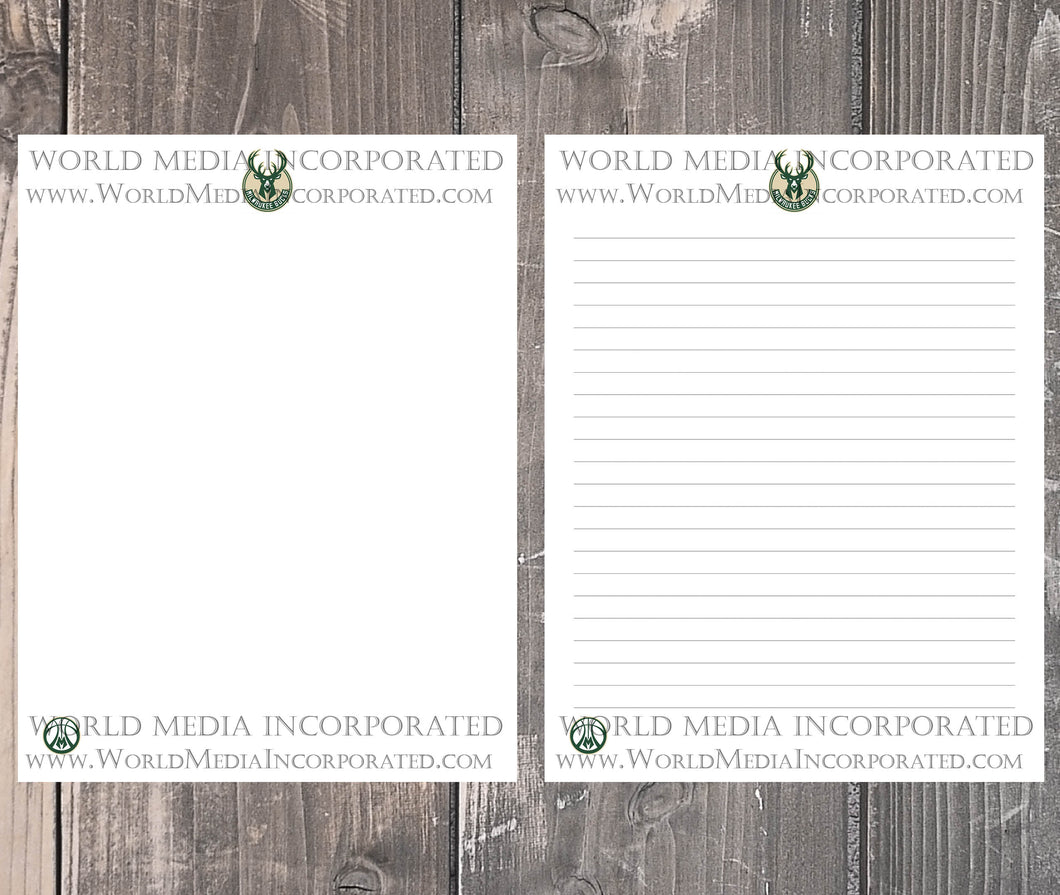 Milwaukee Bucks: NBA Printable Paper & Writing Paper - Instant Download (Fast instant delivery)