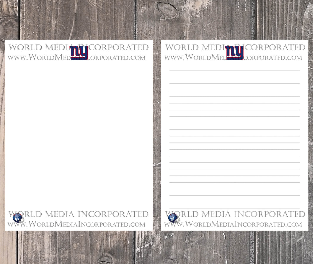 New York Giants: NFL Printable Paper & Writing Paper - Instant Download (Fast instant delivery)