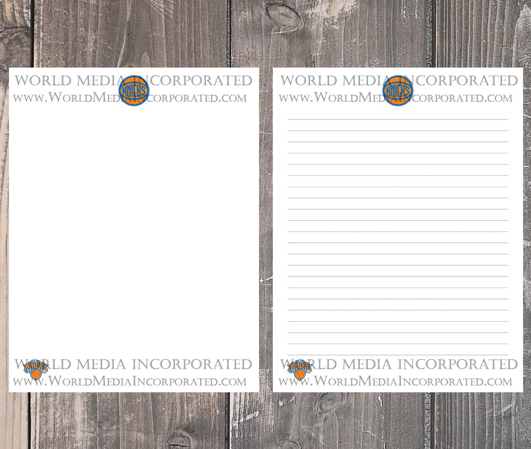 New York Knicks: NBA Printable Paper & Writing Paper - Instant Download (Fast instant delivery)