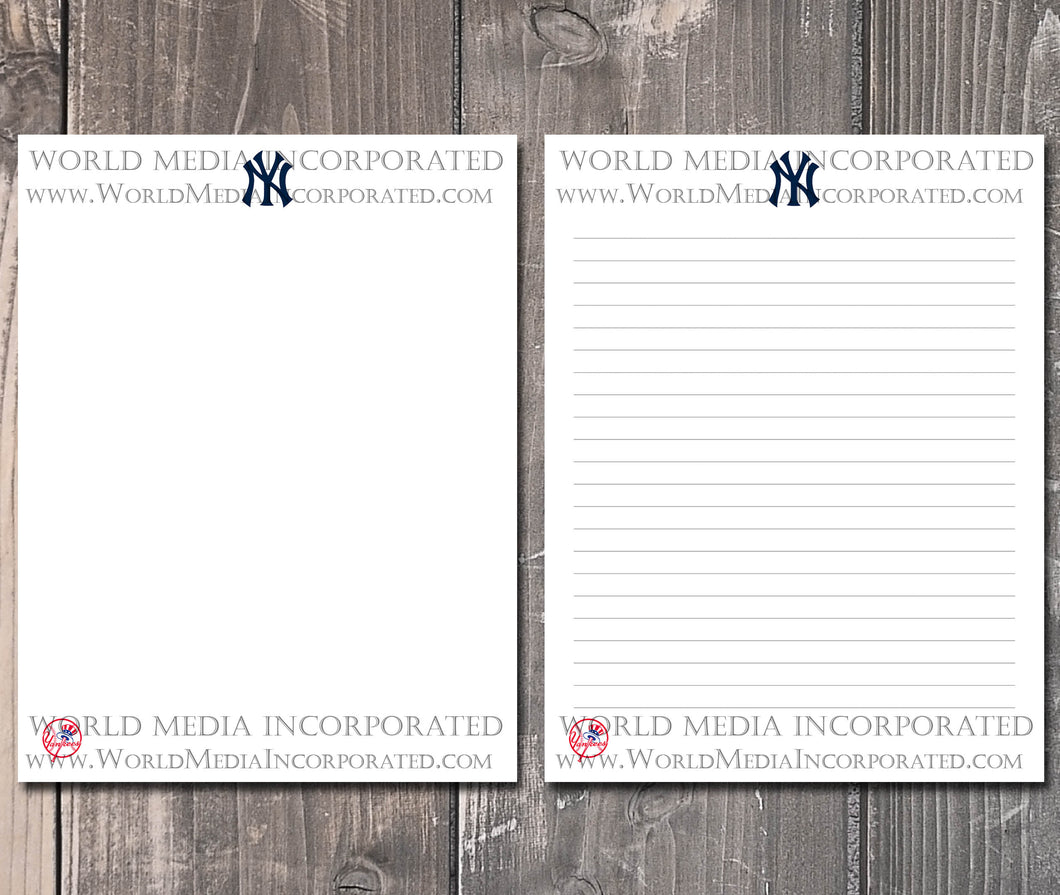 New York Yankees: MLB Printable Paper & Writing Paper - Instant Download (Fast instant delivery)