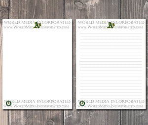 Oakland Athletics: MLB Printable Paper & Writing Paper - Instant Download (Fast instant delivery)
