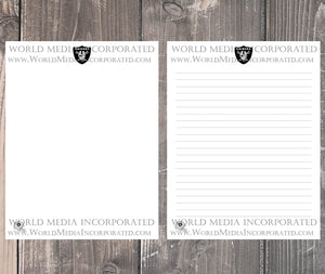 Oakland Raiders: NFL Printable Paper & Writing Paper - Instant Download (Fast instant delivery)