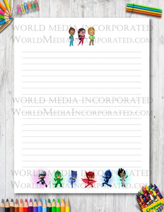 PJ Masks - Printable Paper - Coloring, Diary, Art, Scrapbook
