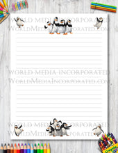 Penguins of Madagascar - Printable Paper - Coloring, Diary, Art, Scrapbook