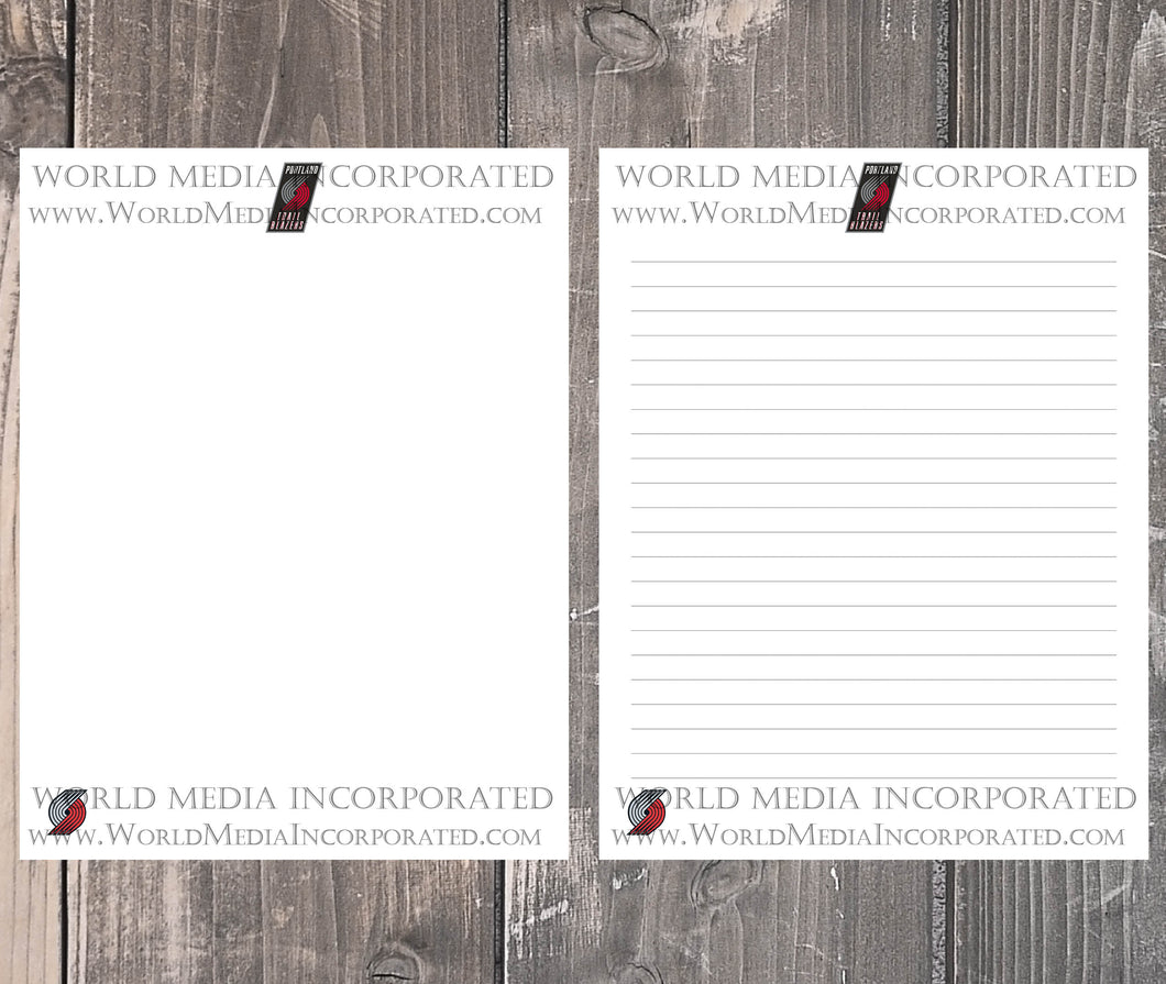 Portland Trail Blazers: NBA Printable Paper & Writing Paper - Instant Download (Fast instant delivery)
