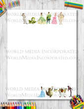 Princess and the Frog - Printable Paper - Coloring, Diary, Art, Scrapbook