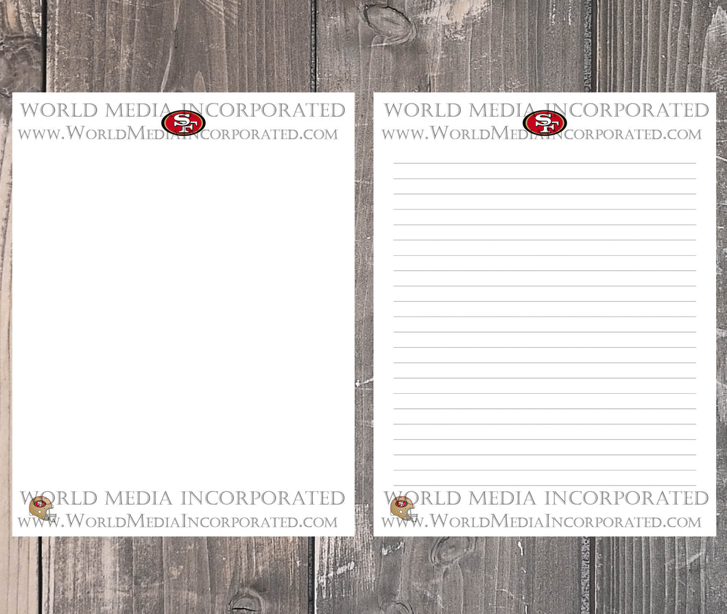 San Francisco 49ers: NFL Printable Paper & Writing Paper - Instant Download (Fast instant delivery)