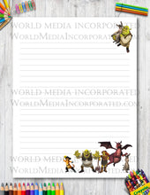 Shrek - Printable Paper - Coloring, Diary, Art, Scrapbook