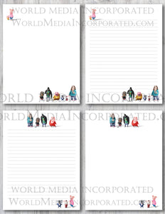 Sing - Printable Paper - Coloring, Diary, Art, Scrapbook