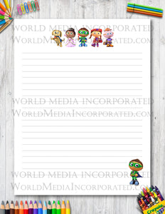 Super Why - Printable Paper - Coloring, Diary, Art, Scrapbook